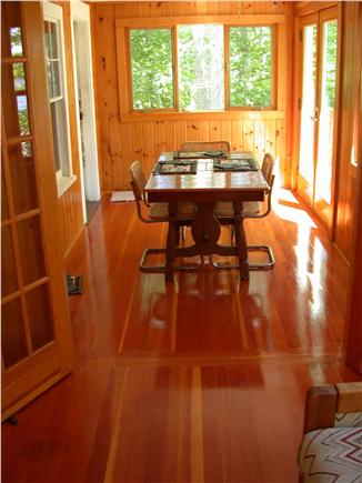 Brewster Cape Cod vacation rental - Dining area on porch
