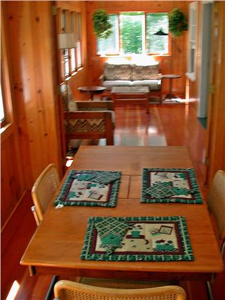 Brewster Cape Cod vacation rental - Sitting area on porch with double futon