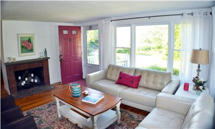 East Falmouth Cape Cod vacation rental - Living room with amazing salt water views