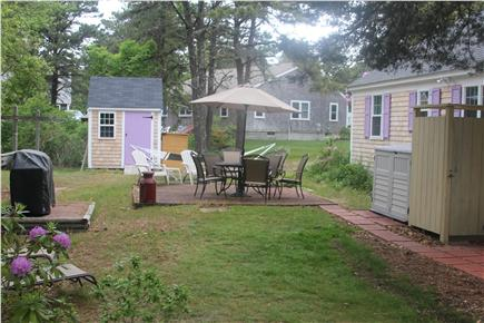 West Harwich Cape Cod vacation rental - Backyard - Patio, Grill, Outside Shower, Shed, Etc