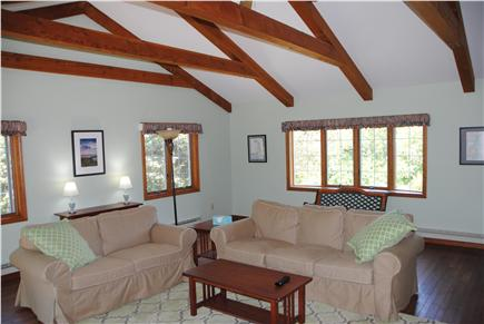 East Orleans Cape Cod vacation rental - Vaulted great room with ceiling fan.
