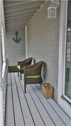 Marshfield, Brant Rock MA vacation rental - Cozy porch with room for four, or stretch out with the ottomans.