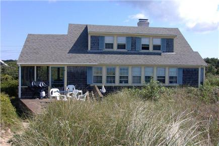 North Eastham Cape Cod vacation rental - House view from top of beach stairs