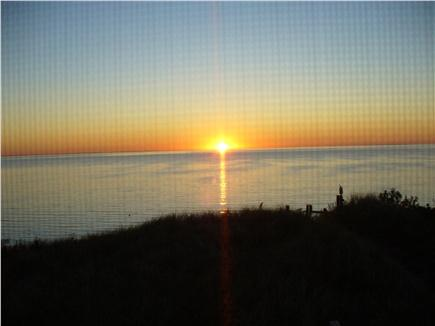 North Eastham Cape Cod vacation rental - Sunset view from our deck and screened porch
