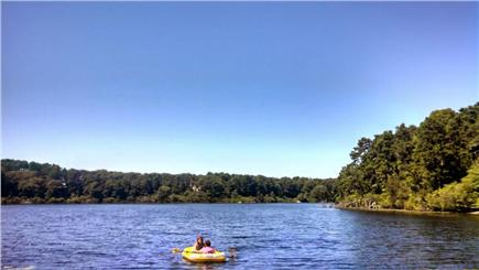 Brewster Cape Cod vacation rental - Rafting on Blueberry Pond