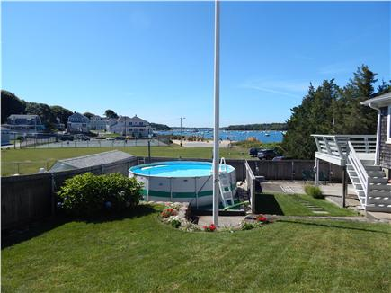 Bourne, Monument Beach Cape Cod vacation rental - Great yard with above ground pool in backround...