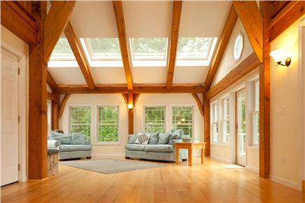 Brewster Cape Cod vacation rental - Timber-framed Great Room