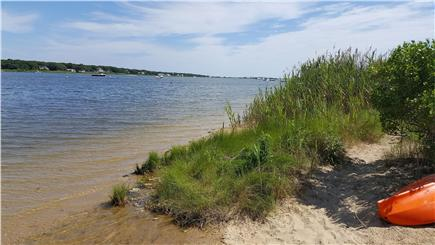 Falmouth, Teaticket Cape Cod vacation rental - Great Pond, 6 houses away at the end of the street