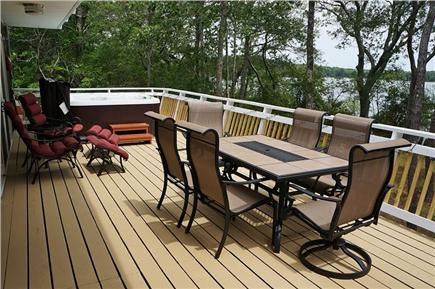 Falmouth Cape Cod vacation rental - Deck is equipped with a gas grill and new patio dining & loungers