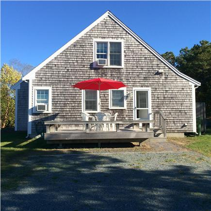 Eastham Cape Cod vacation rental - Anyone for AM coffee on the side deck?
