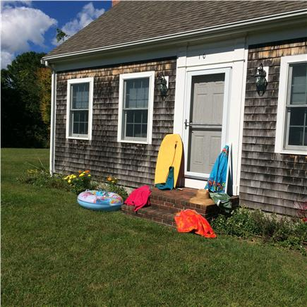 eastham Cape Cod vacation rental - Who gets the outside shower first ?
