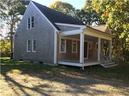 Eastham Cape Cod vacation rental - Morning coffee on the farmers porch