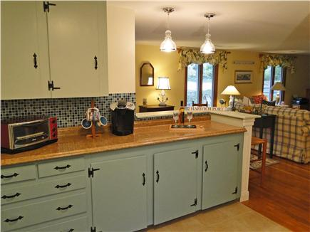Harwich Port Cape Cod vacation rental - Large kitchen offers counter space, breakfast bar, and Keurig