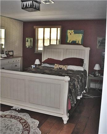 Orleans Cape Cod vacation rental - The master bedroom has a shabby chic look and an en suite bath.