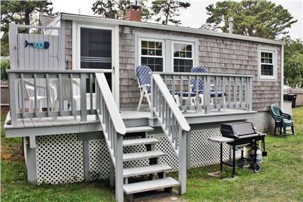 Dennisport Cape Cod vacation rental - Back of house/Deck/Outdoor Shower