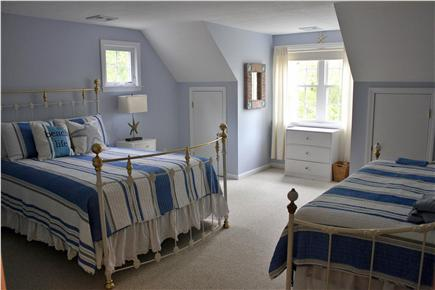 N. Falmouth Old Silver Beach Cape Cod vacation rental - 2nd Floor - Blue Bedroom with Queen Bed and Twin Daybed