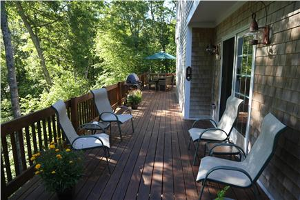 N. Falmouth Old Silver Beach Cape Cod vacation rental - Deck in back of house