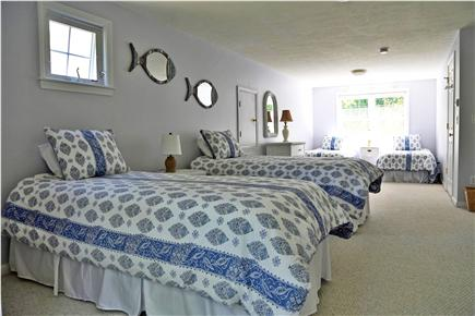 N. Falmouth Old Silver Beach Cape Cod vacation rental - 2nd Floor Lavender Room - 4 twin beds