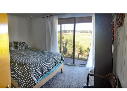 Wellfleet Cape Cod vacation rental - Lower level bedroom two with access to deck