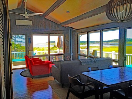Wellfleet Cape Cod vacation rental - Living / Dining Areas with views to Drummers Cove