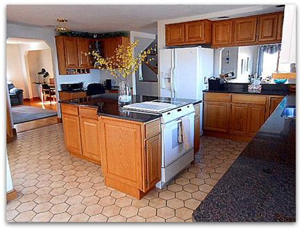 Plymouth MA vacation rental - Open floor plan with fully stocked kitchen