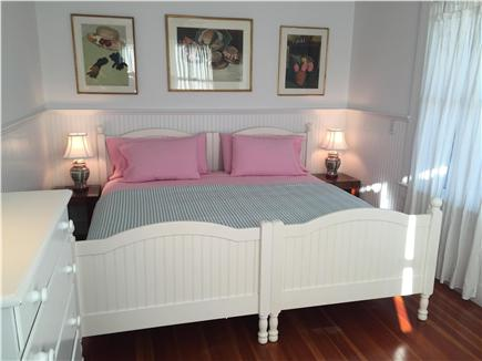 West Yarmouth Cape Cod vacation rental - Main floor king master bedroom #1 w/ bathroom and sitting room.