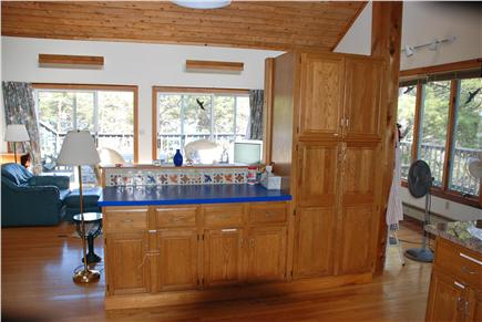 Paine Hollow/ South Wellfleet Cape Cod vacation rental - View from the kitchen toward living room