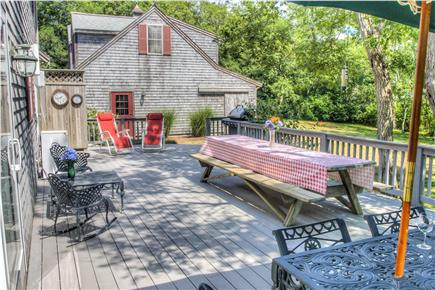 Eastham Cape Cod vacation rental - Back Deck