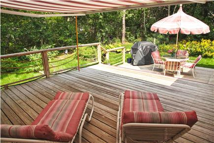 Chatham Cape Cod vacation rental - Outdoor room w/ retractible elec awning overlooks herb gardens