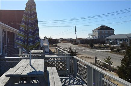 West Dennis Cape Cod vacation rental - The beach is just steps away from the spacious deck.