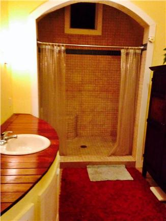 Pocasset Pocasset vacation rental - Master bath features high ceilings and a stunning double shower
