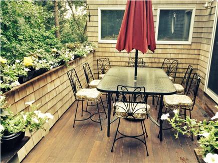 Pocasset Pocasset vacation rental - Quiet side deck, perfect for outdoor dining.