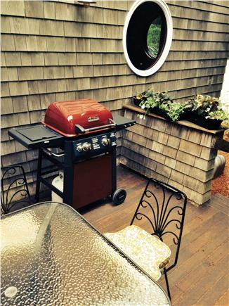 Pocasset Pocasset vacation rental - Side deck is equipped for outdoor cooking