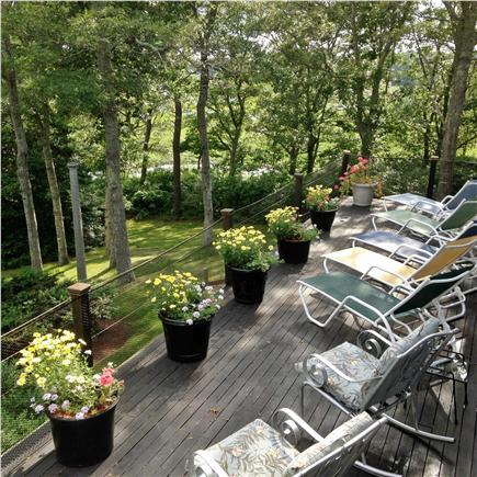 Pocasset Pocasset vacation rental - Safety fencing on the deck, as you relax, as others kayak below