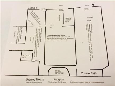 Pocasset Pocasset vacation rental - First floor layout of home.  Add'l  space avail. by special req.