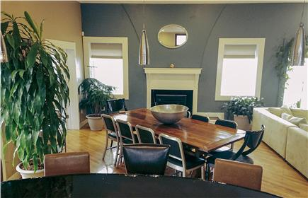 Pocasset Pocasset vacation rental - The dining table is made from reclaimed historic barn