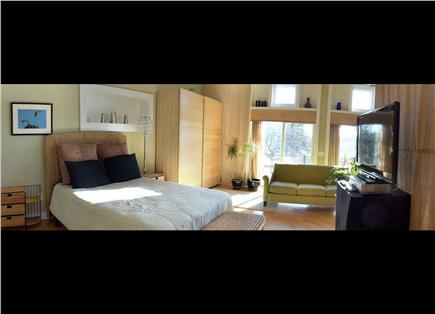 Pocasset Pocasset vacation rental - Master bed, 3 sliders of views and direct hot tub access