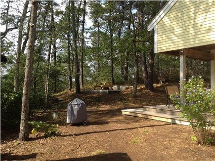 Wellfleet Cape Cod vacation rental - Grill and picnic area all overlooking the Pond and private path.