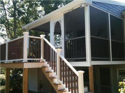 East Falmouth Cape Cod vacation rental - Screened Porch and deck