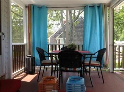 East Falmouth Cape Cod vacation rental - Screen Porch - outside dining option