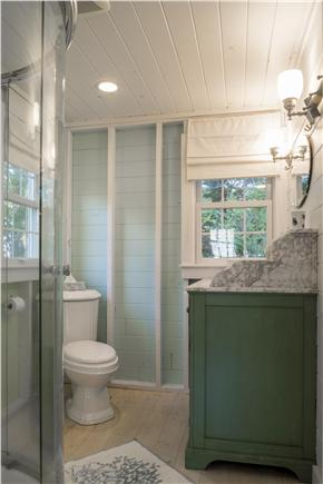 Chatham Cape Cod vacation rental - Bathroom with vanity, enclosed shower and toilet