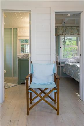 Chatham Cape Cod vacation rental - The bathroom to the left and the bedroom to the right
