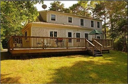 Brewster Cape Cod vacation rental - Large deck and back yard