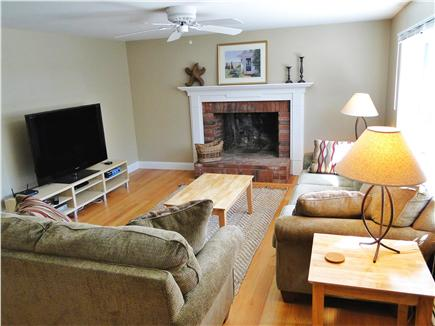 Brewster Cape Cod vacation rental - Living room with bay window, flat screen TV