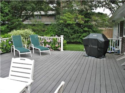 West Dennis Cape Cod vacation rental - Deck has gas grill and plenty of space for lounging