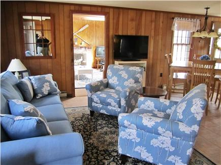 Eastham Cape Cod vacation rental - Open floor plan living room /dining room/ kitchen