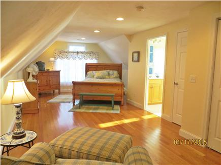 Dennis Cape Cod vacation rental - Private Queen size Bedroom Suite over garage w/full bath