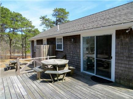 Eastham Cape Cod vacation rental - Deck with picnic table