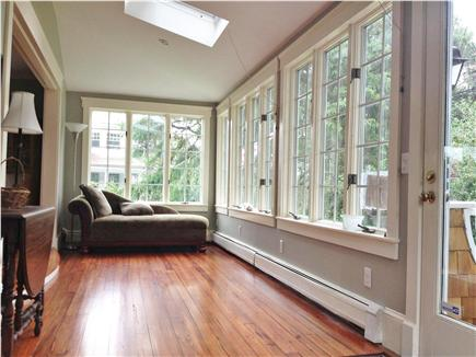 Chatham Cape Cod vacation rental - Enclosed sunroom entrance with comfortable chais lounge