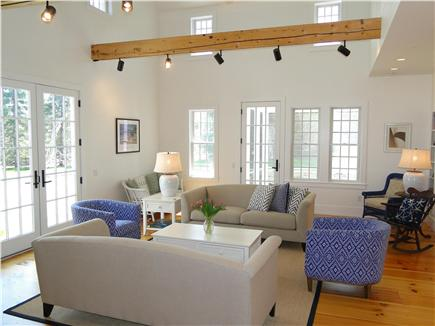 Dennis Cape Cod vacation rental - Spacious living room with vaulted ceilings